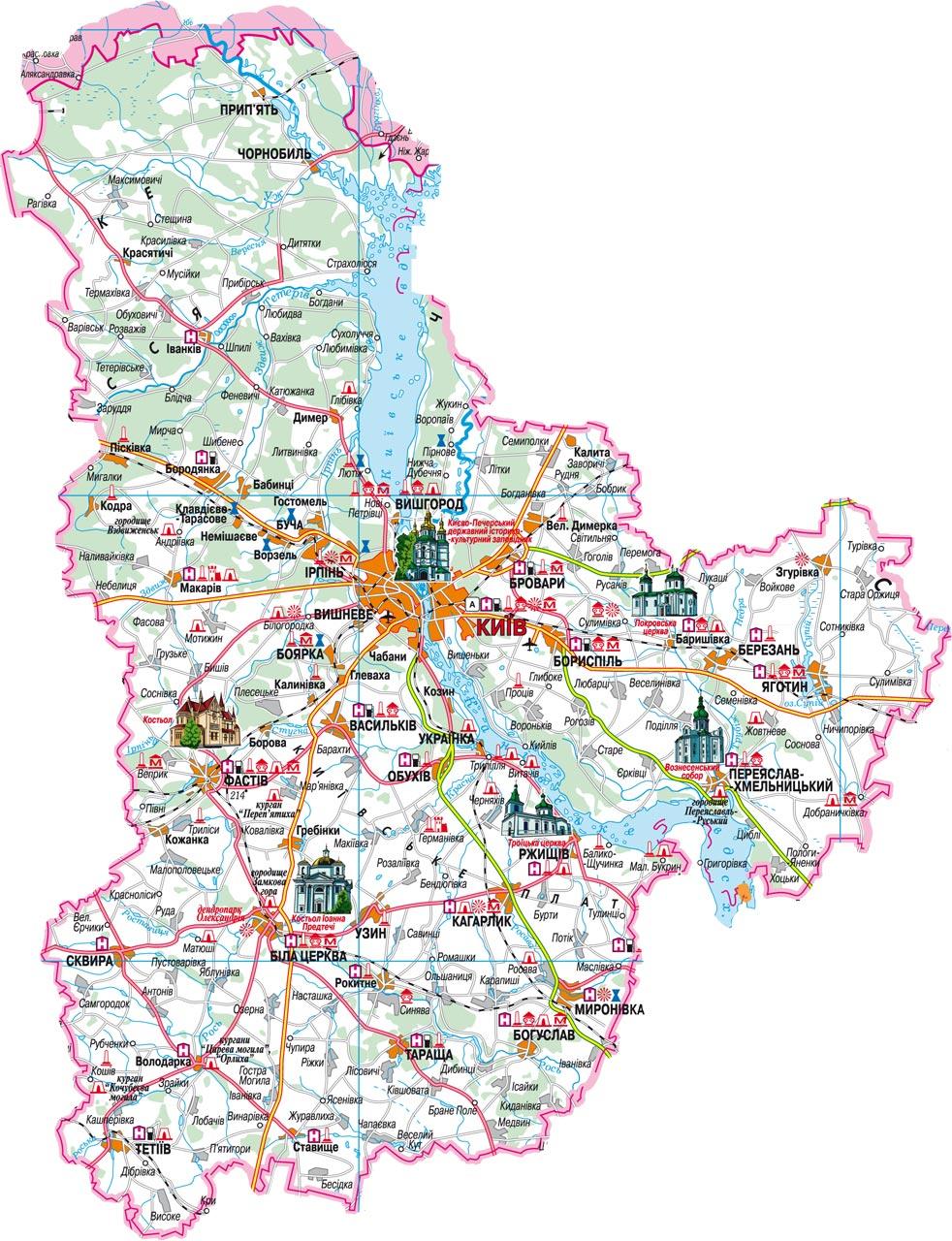 Схема киевская область
