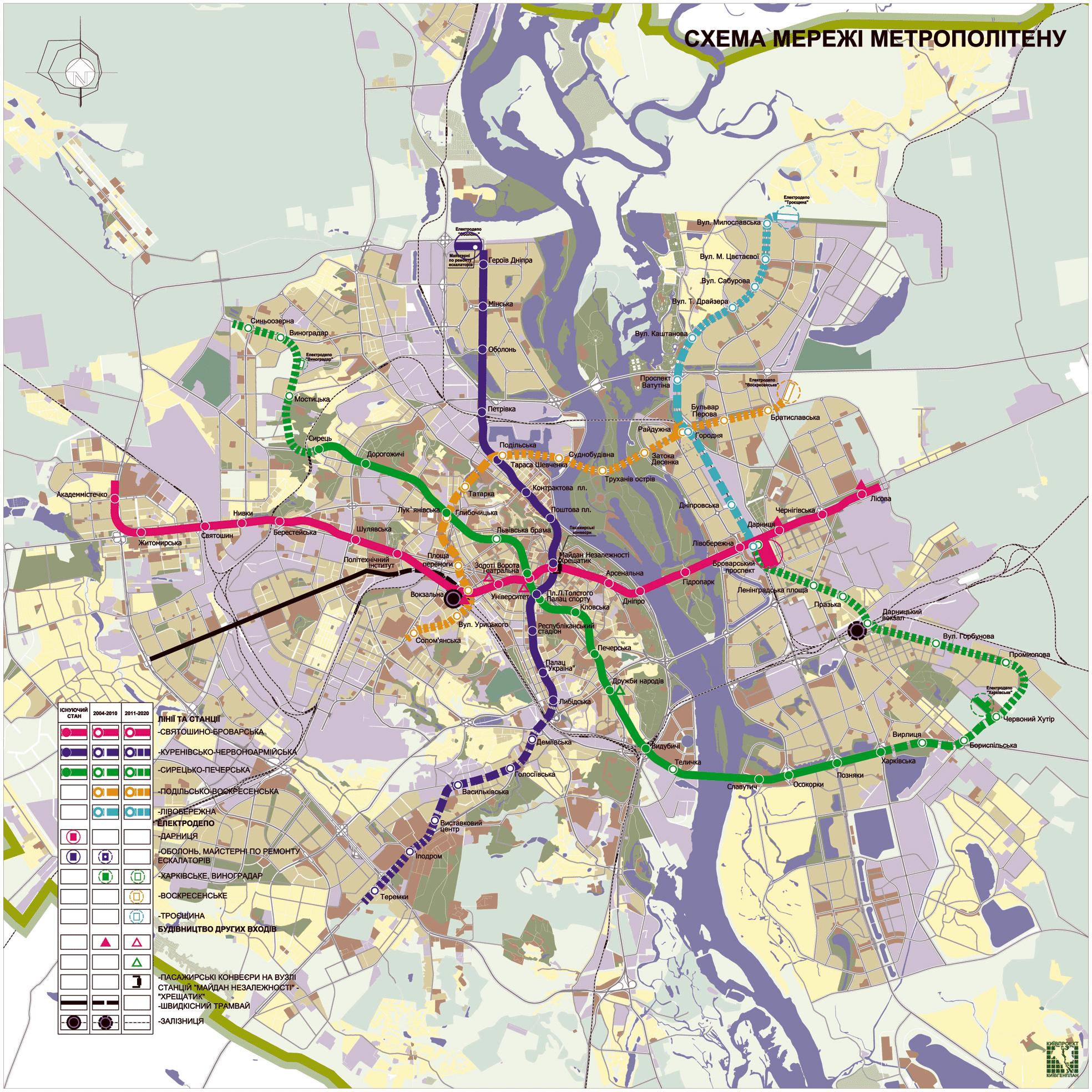 планируемое схема метро к 2025 году на карте
